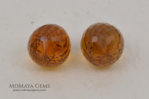 Briolette Citrine Matched Pair 15.39 ct