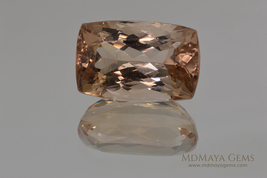 Genuine Light Orange Peach Topaz Gem 15.70 ct Cushion Cut