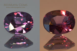 Color Change Garnet Oval Cut 1.41 ct