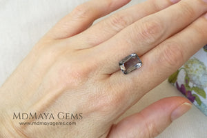 Silver Grey Mogok Spinel Gemstone Cushion Cut 4.30 ct