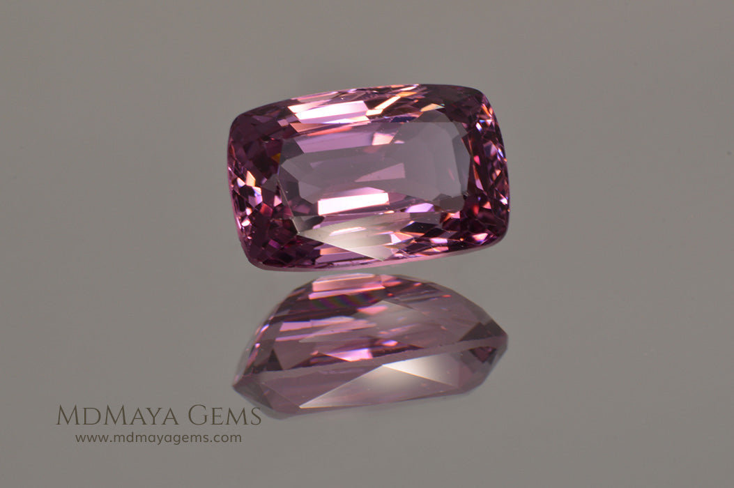 Rare Pink Raspberry Spinel from Burma Cushion Cut 2.34 ct