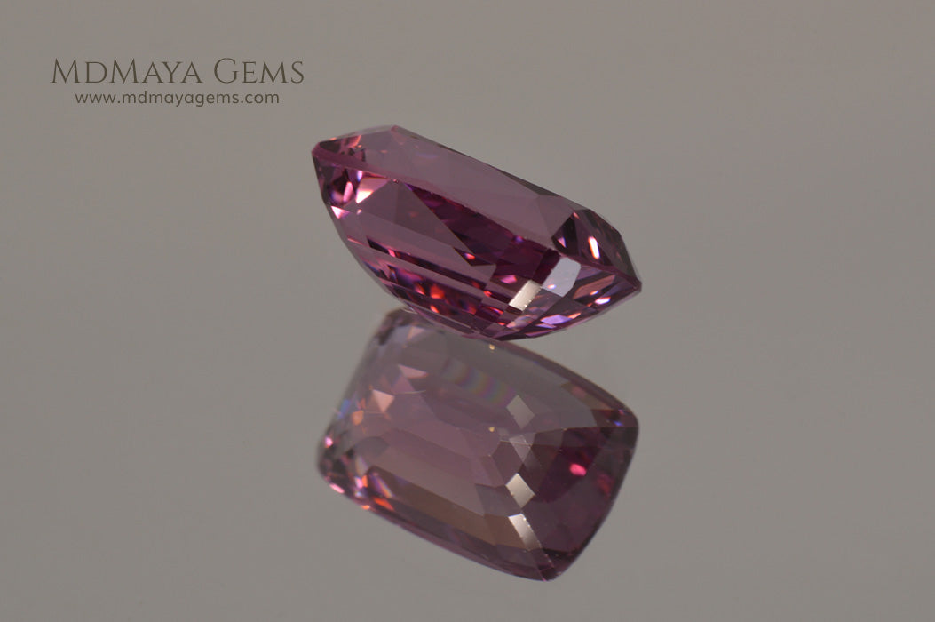 Rare Pink Raspberry Spinel from Burma  Cushion Cut  2 34 ct