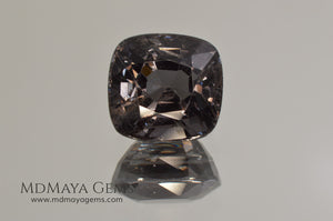 Magnificent Greyish Blue Spinel Cushion Cut 4.80 ct under incandescent light