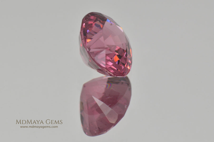 Rich Lotus Blossom Pink Spinel from Burma Oval Cut 1.70 ct
