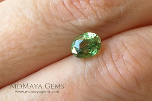 Vivid Green Demantoid Garnet Oval Cut 1.30 ct