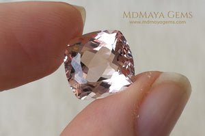 Stunning Light Pink Morganite 7.14 ct Cushion Cut