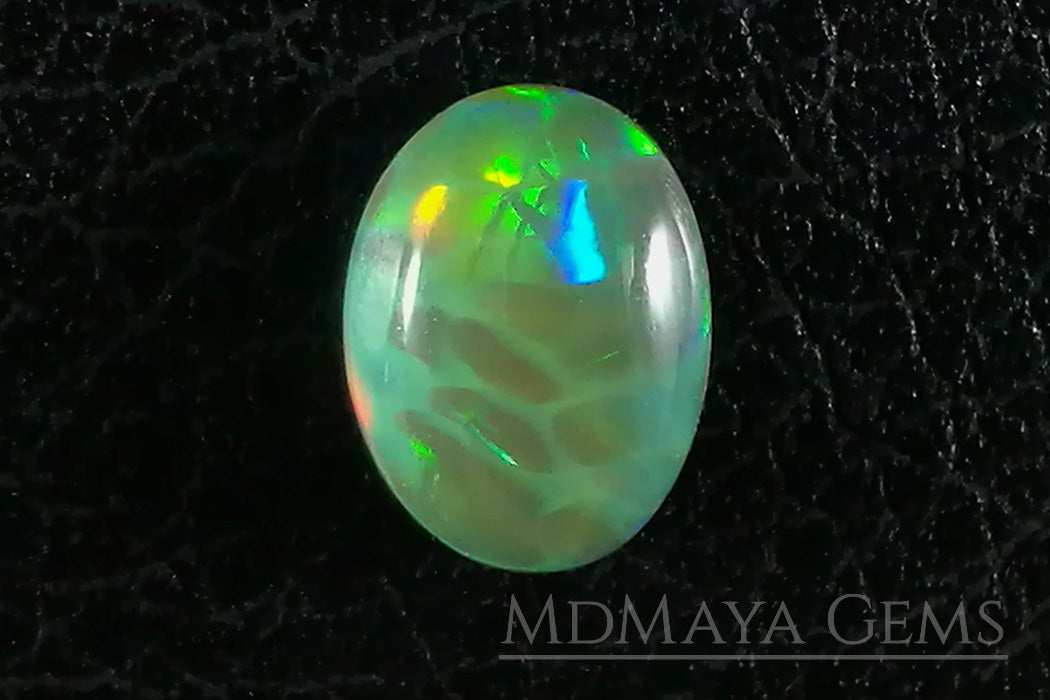 Top Brilliant honeycomb pattern Welo Ethiopian Opal. 1.09 ct