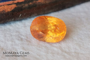 Fanta Unheated Spessartite Garnet. Oval Cut. 2.17 ct. This gemstone has a pure orange, without brown or reddish tones, it is rare for a gem to have such a pure color, and it is simply impressive. It has inclusions that do not affect the beauty of the gem at all. It will be incredibly beautiful mounted on any piece of jewelry, it will be the center of attention.