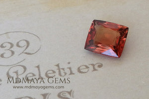 Flame Orange Burma Spinel Cushion Cut 2.29 ct