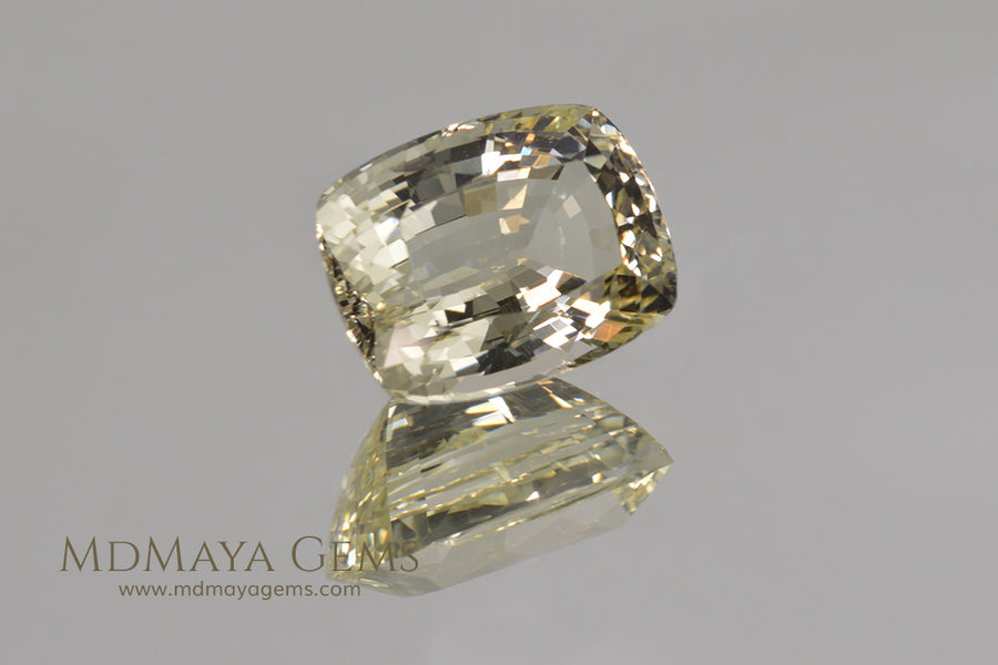 Untreated Light Yellow Heliodor Golden Beryl Cushion Cut 4.79 ct