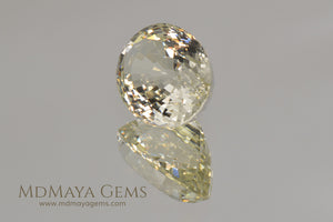 Greenish Yellow Heliodor Gemstone Oval cut 5.53 ct