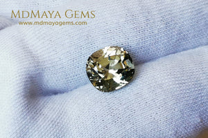 Elegant large golden tourmaline 5.25 ct cushion cut for sale MdMaya Gems