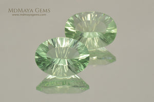 Natural Green Fluorite Pair from USA 12.05 ct.