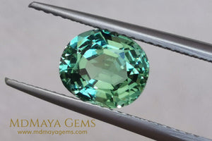 Mint Green Paraiba Tourmaline 2 10 ct with certificate for sale MdMaya Gems