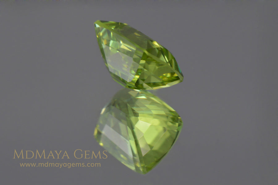 Magnificient Cushion Green Burmese Peridot 2.03 ct