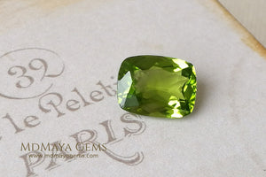 Genuine Green Peridot Cushion Cut 4.72 ct