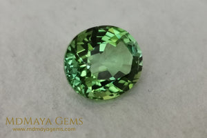 Vivid Green Tourmaline 4.14 ct oval cut