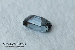 Bluish Gray Spinel Unheated, Cushion Cut, 1.03 ct. Perfect for a special ring. This beautiful precious stone dark has a beautiful cut and shine, an excellent natural gem at an irresistible price.