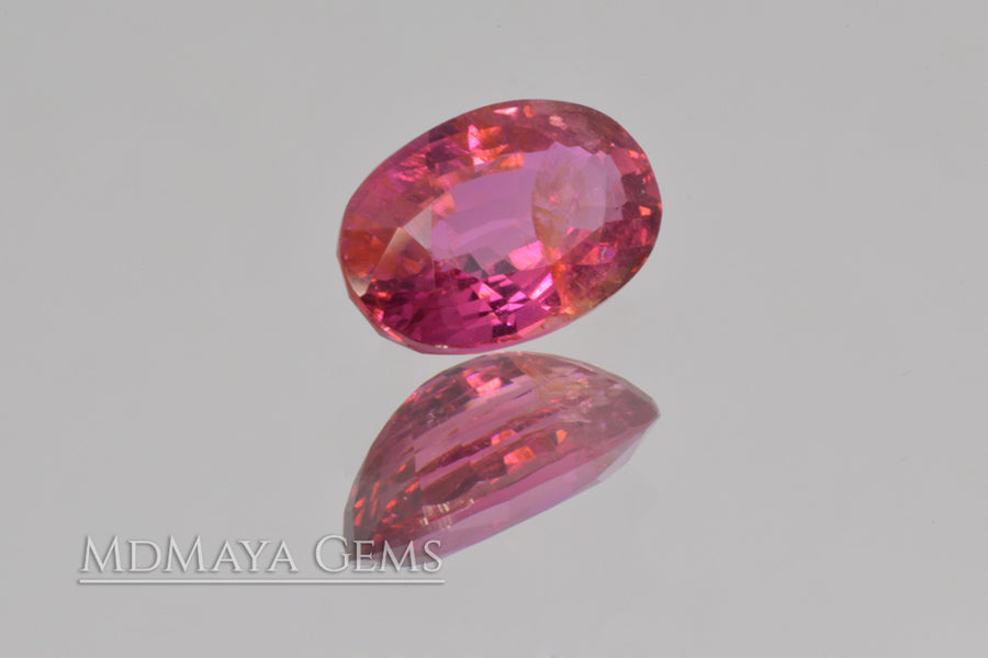 Natural Purple Pink Rubellite Tourmaline. Oval Cut. 1.70 ct