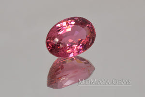 Brilliant Rich Purple Red Rubellite Tourmaline from Mozambique. Big Gem for Jewelry!. Oval Cut. 5.02 ct.