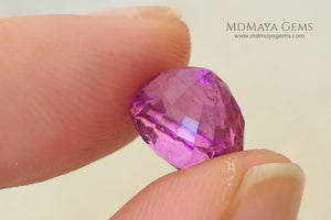 Hot Pink Rubellite Tourmaline Gemstone Oval Cut 4.44 ct