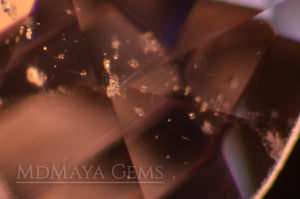 Inclusions in Platinum light Purple Spinel from Mogok. Oval Cut. 2.17 ct.