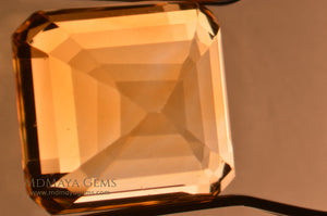 Inclusions in  Golden Citrine Square Cut 6.80 ct