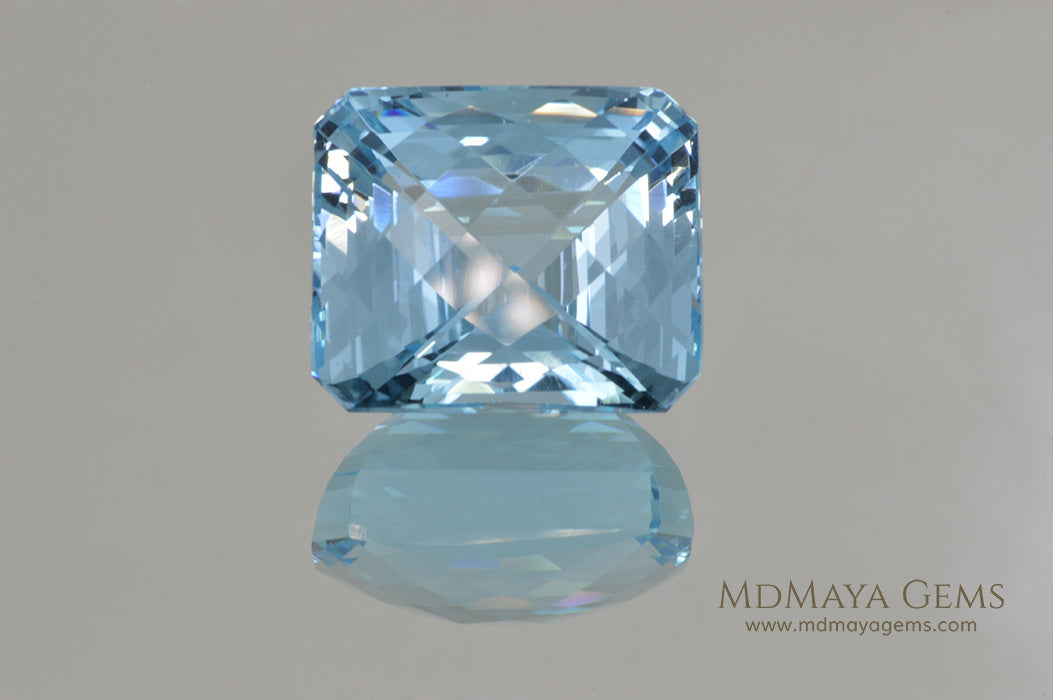 Genuine Large Blue Topaz Gem Fancy Cut 42.70 ct
