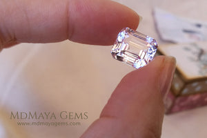 Light Pink Kunzite Gemstone Emerald Cut 8.35 ct