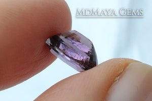 Mozambique Purple Tourmaline Cushion Cut. 3.03 ct