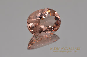 Luxury Pink Morganite 13.73 ct Oval cut