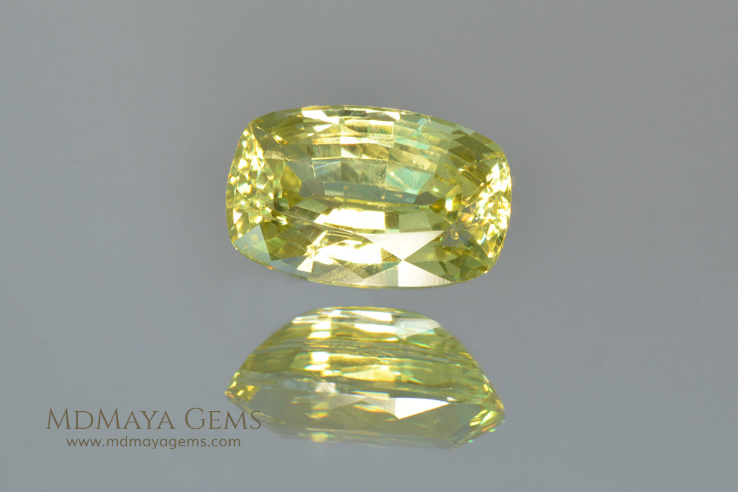 Green Yellow Mali Garnet Cushion Cut 1.08 ct