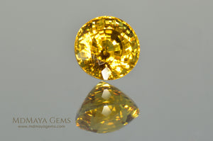Exceptionally Yellow Mali Garnet Round Cut 2.34 ct