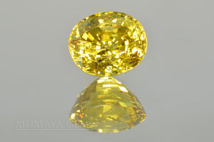 Sparkle Vivid Greenish Yellow Mali Garnet Oval Cut 4.54 ct