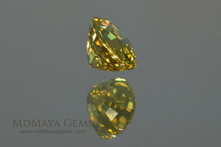 Greenish Yellow Mali Garnet Gemstone Oval Cut 1.25 ct