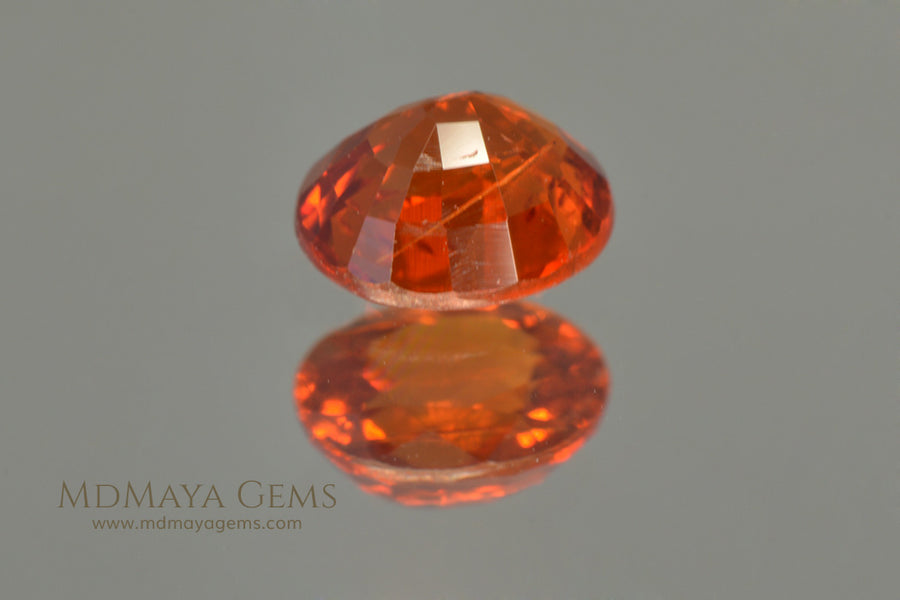 Orange Mandarin Spessartite Garnet Oval cut 0.84 ct