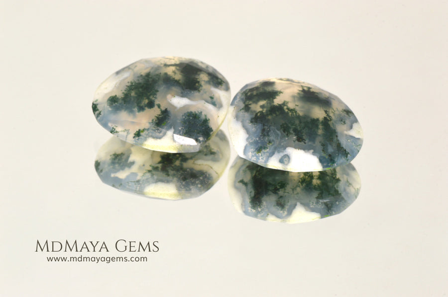 Green Moss Agate with dendritic inclusions 14.60 ct