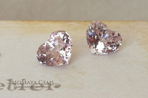 Matched Pair Platinum Light Purple Spinel  3.07 ct pair Heart cut