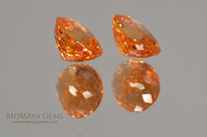 Mandarin Garnet Pair Oval Cut 2.815 ct