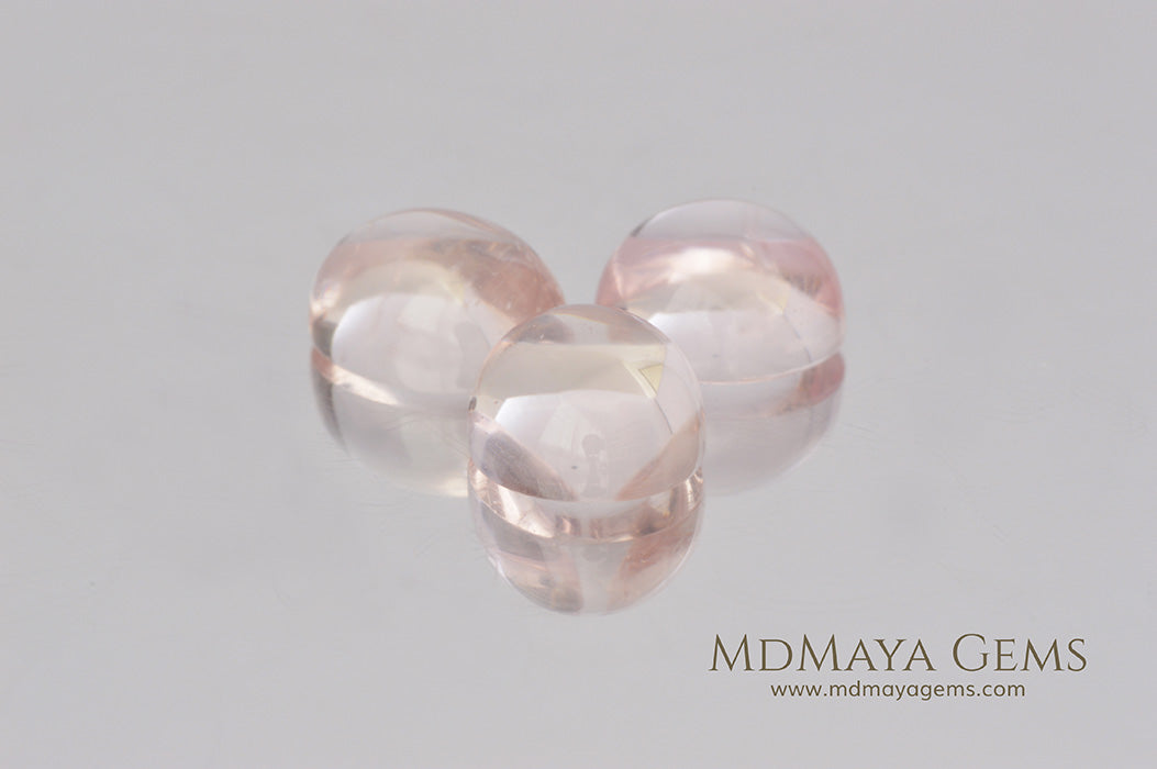 Loose Pink Morganite Stones Cabochon Cut 9.71 ct. total