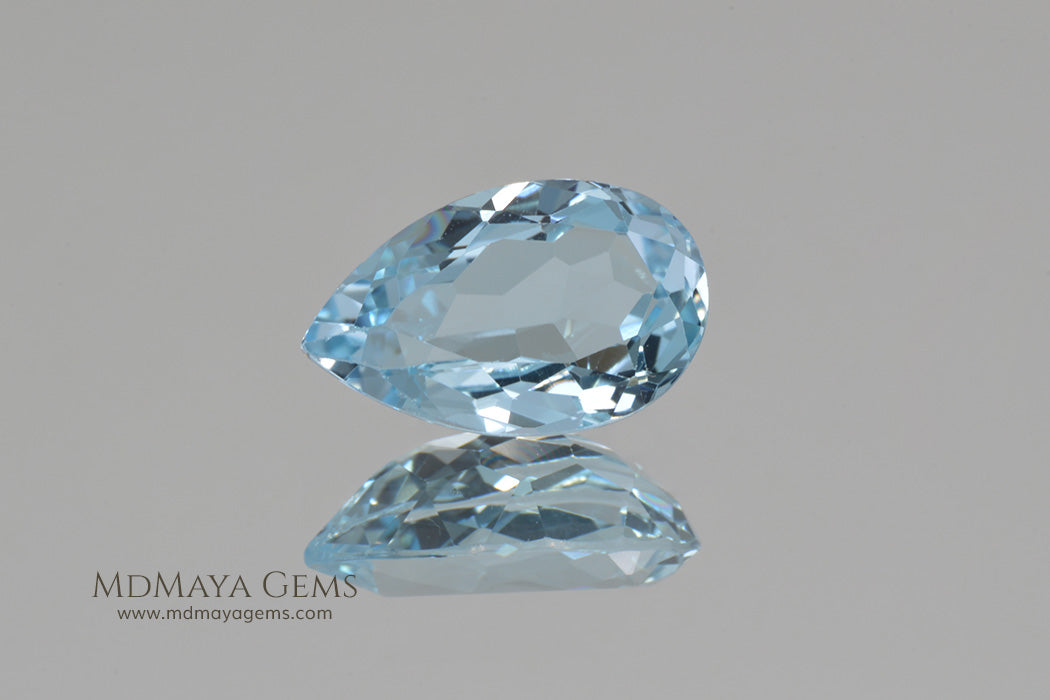 Loose Blue Topaz Pear Cut Topaz 4.23 ct