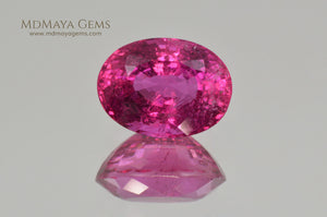 Neon Pink Rubellite Tourmaline from Mozambique Oval Cut 4.14 ct