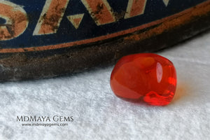 Polished Fire Opal 2.85 ct. Free form