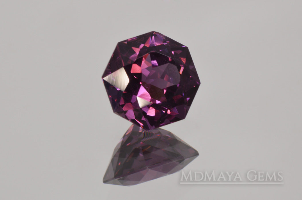 Natural Purple Spinel from Sri Lanka. Octagon Cut. 1.85 ct