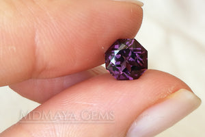 Natural Purple Spinel from Sri Lanka. Octagon Cut. 1.85 ct.