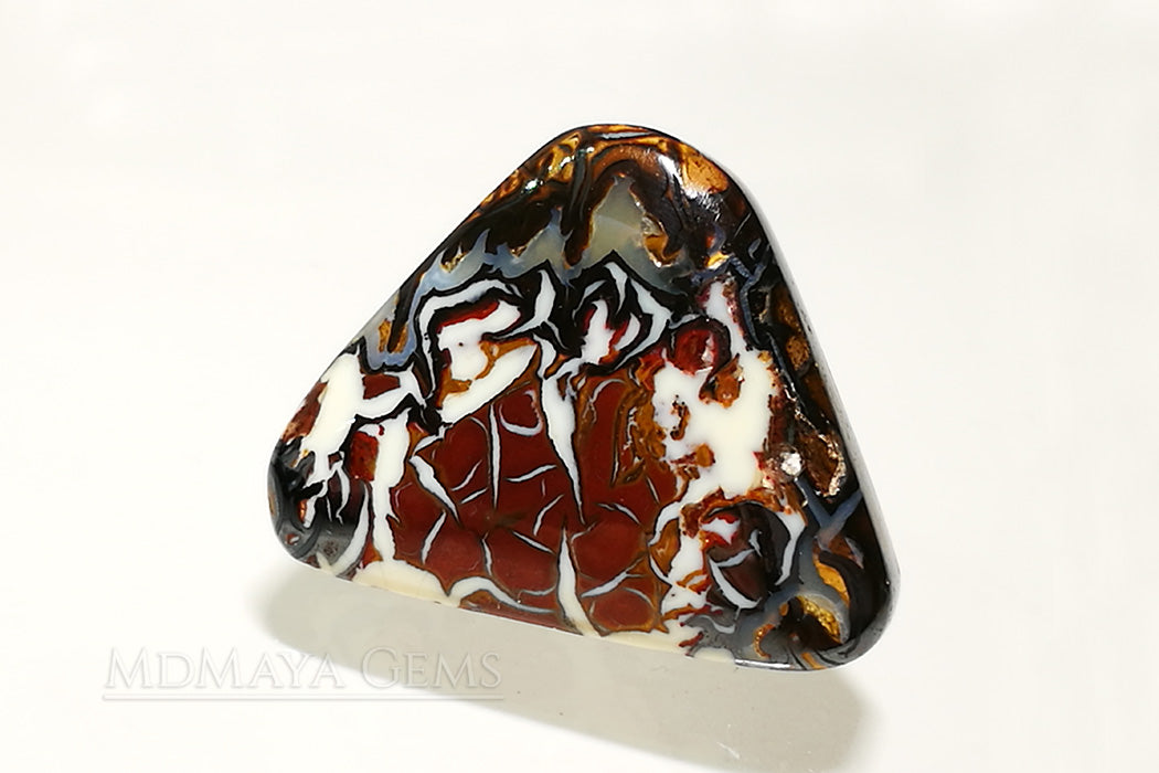 Australian Boulder Opal Cabochon Cut 10.38 ct Natural Matrix Unheated Opal Beautiful Pattern