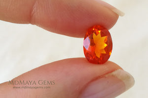 Charismatic Mexican Fire Opal. Oval cut. 2.04 ct.