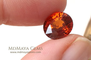Gorgeous Orange  Spessartite Garnet Oval Cut 4.23 ct