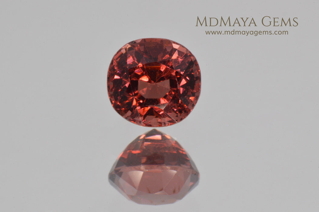 Magnificent Rich Orange Red Spinel Cushion Cut 1.22 ct