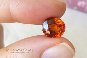 Brilliant Orange Spessartite Garnet Oval cut 5.26 ct